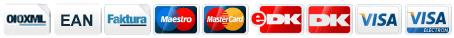 Faktura, Dankort, Visa-Dankort, MasterCard, Visa